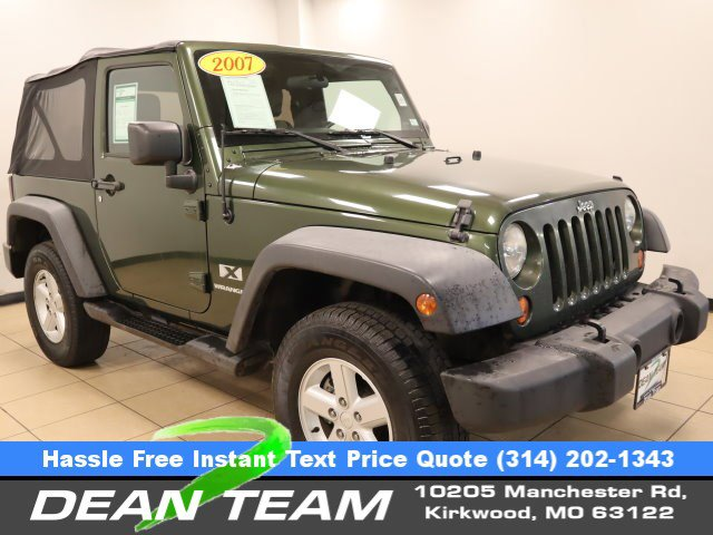 2007 Jeep Wrangler 4WD 2dr X GREEN Driver Air Bag