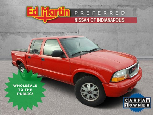 "2002 GMC Sonoma Crew Cab 123"" WB 4WD SLS FIRE RED"