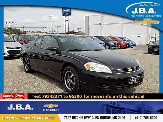 2007 Chevrolet Monte Carlo 2dr Cpe LS BLACK