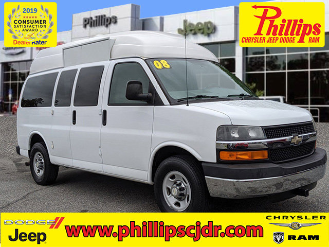 "2008 Chevrolet Express Passenger RWD 3500 135"" SUMMIT WHITE"