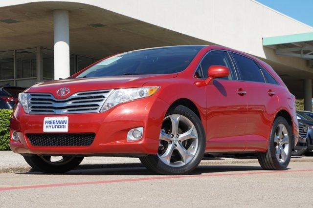 2010 Toyota Venza 4dr Wgn V6 FWD RED Bucket Seats Brake Assist