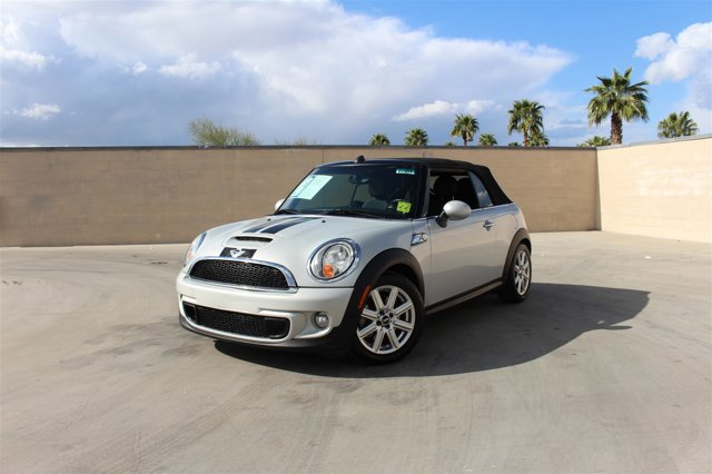 2012 MINI Cooper Convertible 2dr S PEPPER WHITE
