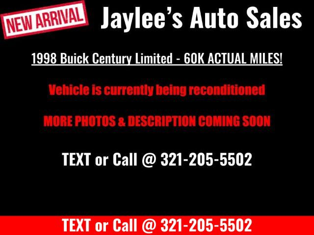 1998 Buick Century 4dr Sdn Limited BRIGHT WHITE