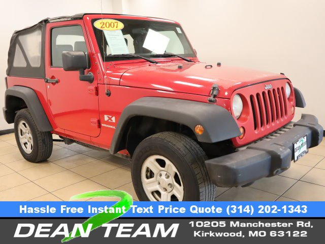 2007 Jeep Wrangler 4WD 2dr X RED Driver Air Bag