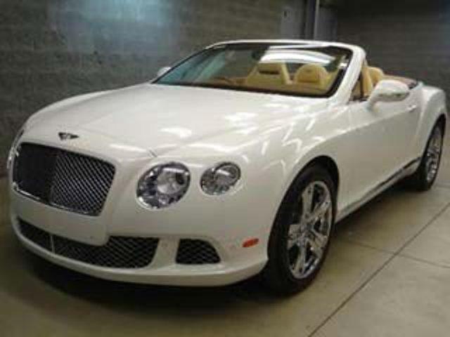 2013 Bentley Continental GT 2dr Conv Glacier White Solid