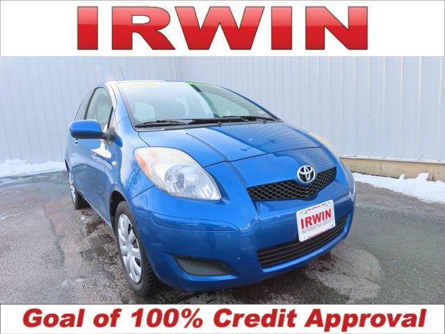 2010 Toyota Yaris BLUE Cloth Seat Trim Bumpers: body-color