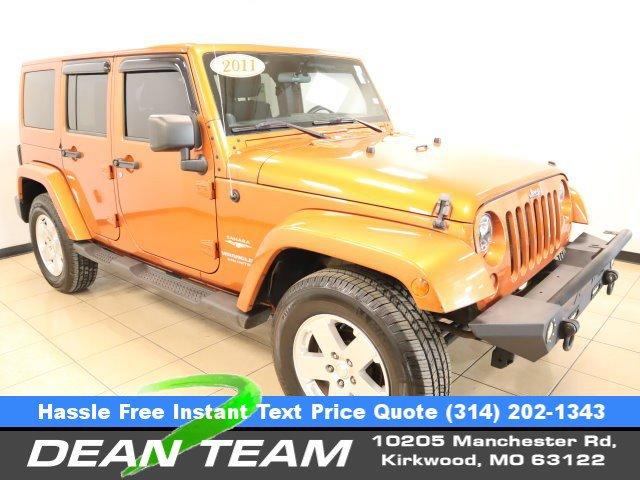 2011 Jeep Wrangler Unlimited 4WD 4dr Sahara MANGO TANGO PEARL