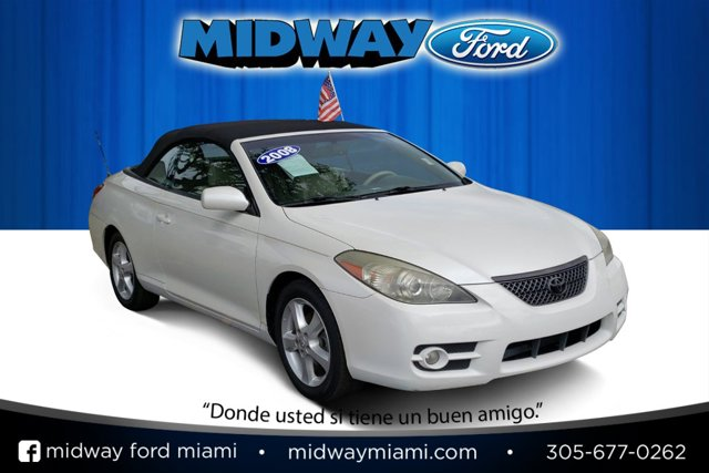 2008 Toyota Camry Solara WHITE Convertible Soft Top CD Player
