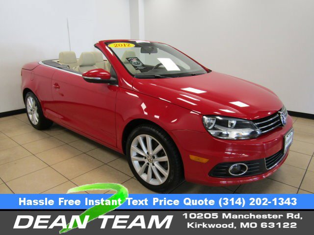 2012 Volkswagen Eos 2dr Conv Komfort RED CD Player Bucket Seats