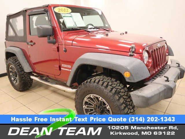 2012 Jeep Wrangler 4WD 2dr Sport DEEP CHERRY RED CRYSTAL PEARL