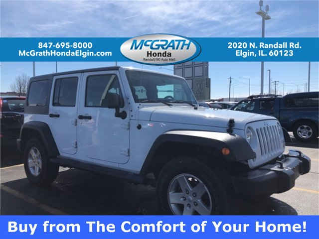 2014 Jeep Wrangler Unlimited 4WD 4dr Sport BRIGHT WHITE