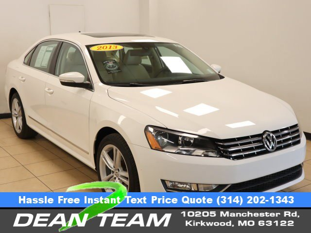 2013 Volkswagen Passat WHITE Brake Assist