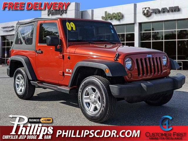 2009 Jeep Wrangler 4WD 2dr X SUNBURST ORANGE PEARL