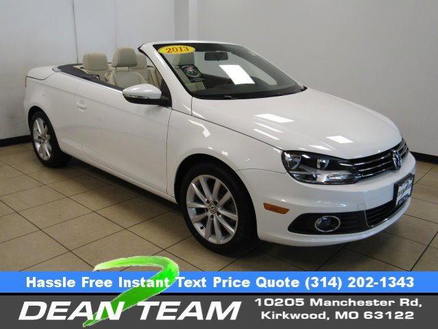 2013 Volkswagen Eos WHITE CD Changer Bucket Seats Brake Assist