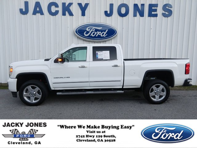 "2015 GMC Sierra 2500HD 4WD Crew Cab 153.7"" Denali SUMMIT WHITE"