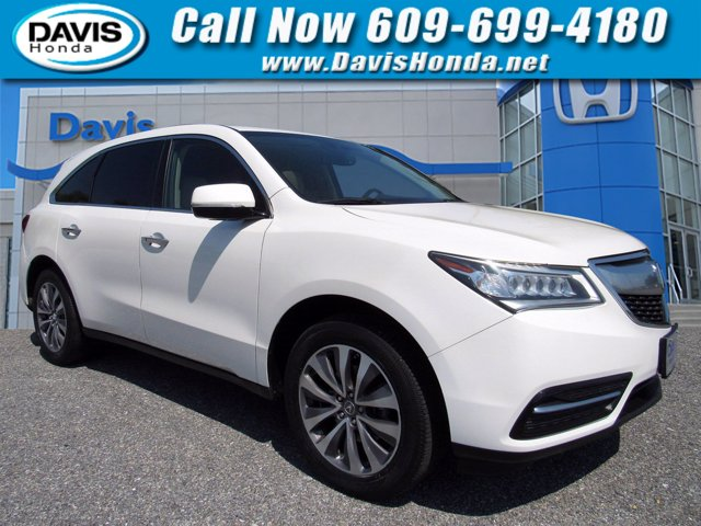 2014 Acura MDX AWD 4dr Tech Pkg WHITE Air Conditioning