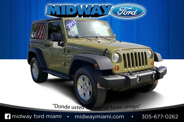 2013 Jeep Wrangler 4WD 2dr Freedom Edition Commando Green