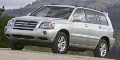 2006 Toyota Highlander Hybrid 4dr 4WD SILVER Cargo Shade