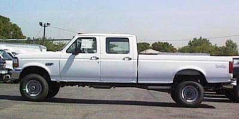 "1997 Ford F-350 Crew Cab 4dr 168.4"" WB SRW 4WD WHITE"