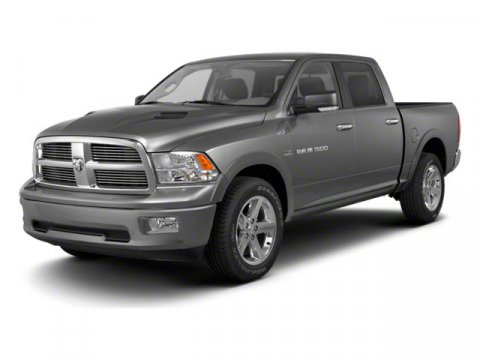 2012 RAM 1500 4x2 Laramie 4dr Crew Cab 55 ft SB Pickup Bright rear bumper Body color fuel filler