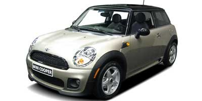 2009 MINI Cooper Hardtop COOPER BLACK BONNET STRIPES BLACK TOP PEPPER WHITE Front Wheel Drive K