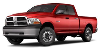 2012 Ram 1500 2WD QUAD CAB 1405  SLT Heated Mirrors Power Mirrors Passenger Vanity Mirror Rea