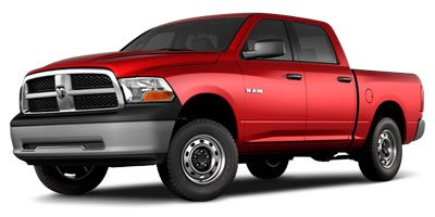 2010 Dodge Ram 1500 ST 4D Crew Cab Rear Wheel Drive Power Steering ABS 4-Wheel Disc Brakes Conv