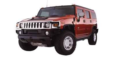 2003 HUMMER H2 Base Four Wheel Drive LockingLimited Slip Differential Traction Control Tow Hitc
