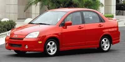 2004 Suzuki Aerio SLX Front Wheel Drive Temporary Spare Tire Power Steering Front DiscRear Dru