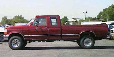 1997 Ford F-250 HD Crew Cab  Rear Wheel Drive Tires - Front All-Season Tires - Rear All-Season S