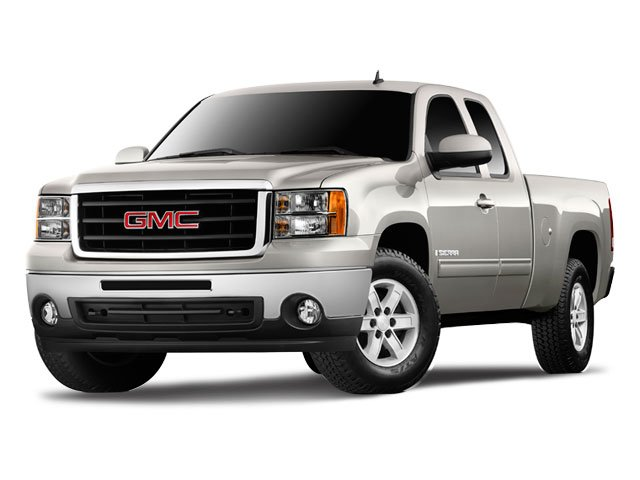 2009 GMC Sierra 1500 SLE 17 x 75 6-Lug Chrome-Styled Steel WheelsFront 402040 Split-Bench Sea