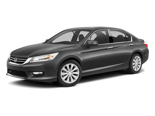 2014 Honda Accord Sedan Touring CRYSTAL BLACK PEARL BLACK  PERFORATED LEATHER-TRIMMED SEATS Front