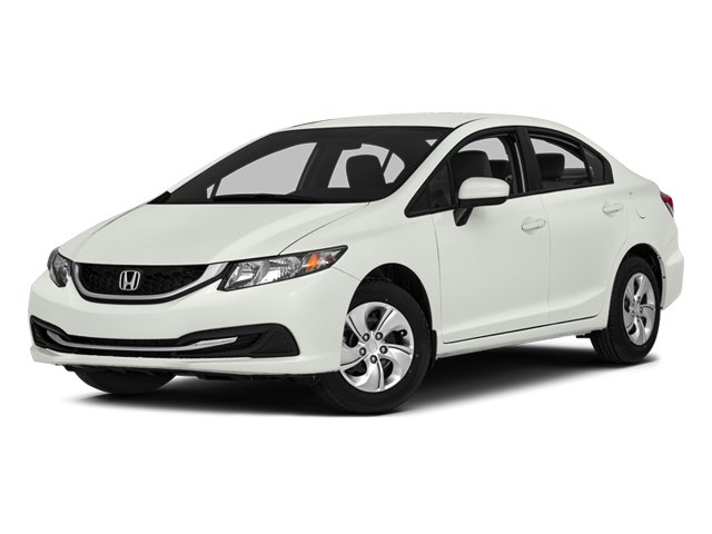 2014 Honda Civic Sedan FB2F5EEW LX Continuously Variable Gray Front Wheel Drive Power Steering