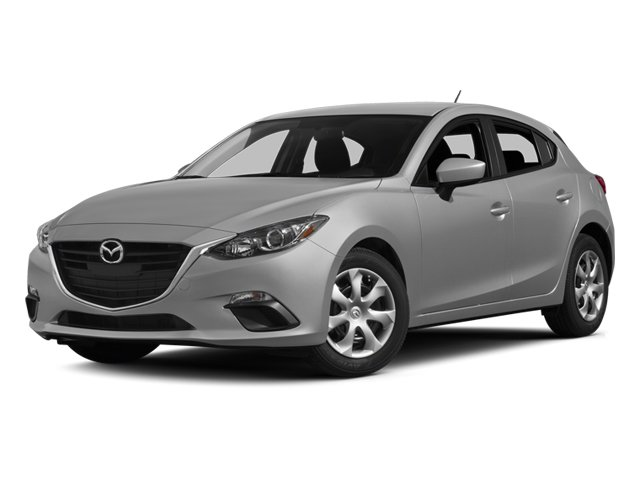 2014 Mazda Mazda3 s Grand Touring METEOR GRAY MICA BLACK  PERFORATED LEATHER SEAT TRIM Front Whee
