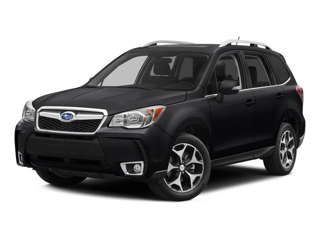 2015 Subaru Forester 20XT Touring BLACK  PERFORATED LEATHER-TRIMMED UPHOLSTERY DARK GRAY METALLIC