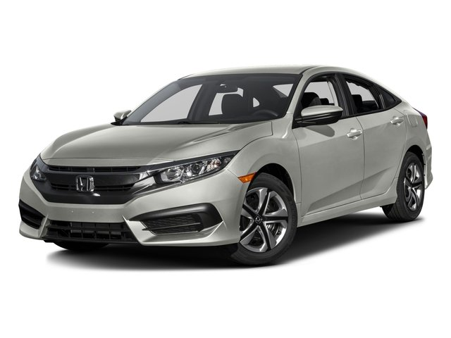 2016 Honda Civic Sedan FC2F5GEW LX Continuously Variable Silver Black Front Wheel Drive Power