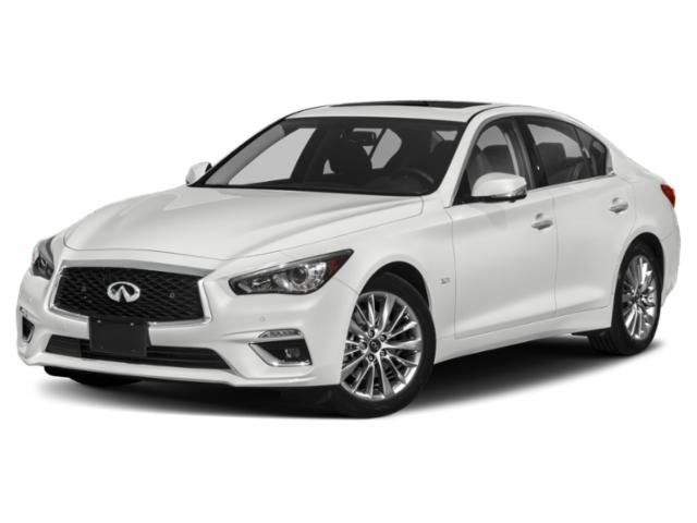 2018 INFINITI Q50 30t LUXE BLACK OBSIDIAN B92 SPLASH GUARDS WHEAT  LEATHER-APPOINTED SEATING