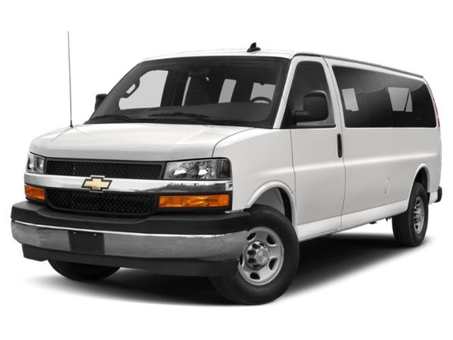 2019 Chevrolet Express Passenger LS SEATS  FRONT BUCKET WITH CUSTOM CLOTH TRIM  head restraints and