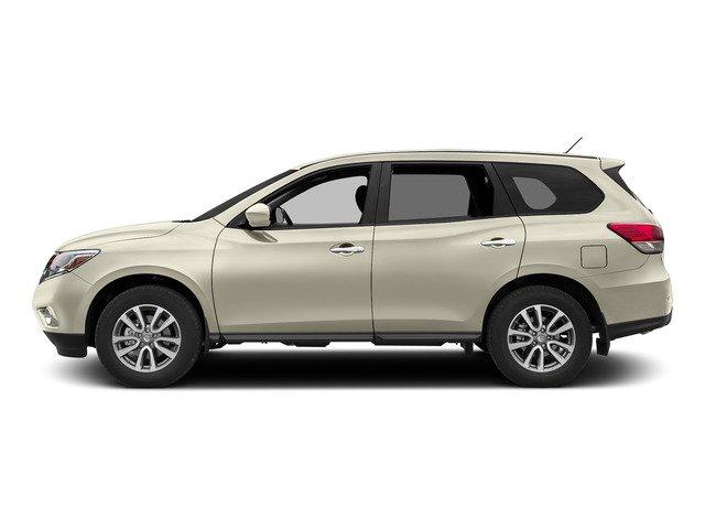 2015 Nissan Pathfinder SV PEARL WHITE B10 BLACK SPLASH GUARDS 4-PIECE CHARCOAL  CLOTH SEAT TRIM